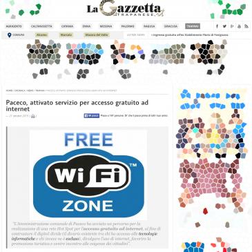 Paceco: è attivo il servizio per l'accesso gratuito ad Internet grazie ad Integrys.it