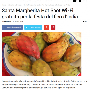 Santa Margherita: Internet gratis per la festa del fico d'india grazie a Integrys.it