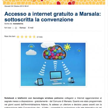 Internet gratis a Marsala: sottoscritta la convenzione con Integrys.it