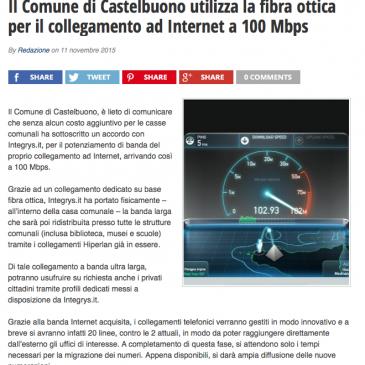 Il Comune di Castelbuono utilizza la fibra ottica di Integrys.it per il collegamento ad Internet a 100 Mbps