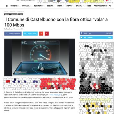 """Il Comune di Castelbuono con la fibra ottica di Integrys.it """"vola"""" a 100 Mbps"""