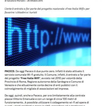 Paceco: Attivato il servizio WiFi Gratuito Integrys.it